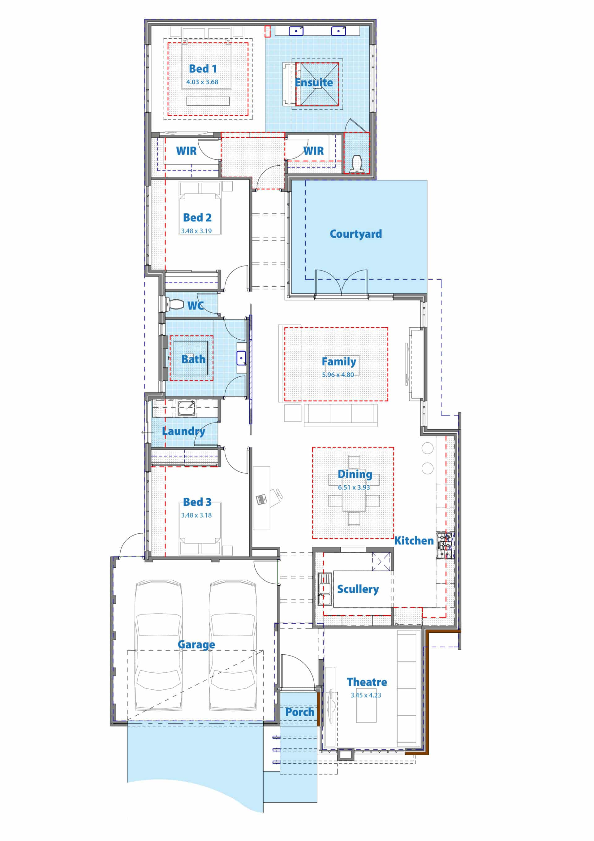 floor plan of the manhattan display home